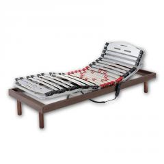 Somier articulado eléctrico con motor alemán. Incluye juego de patas en madera de haya o metálicas.