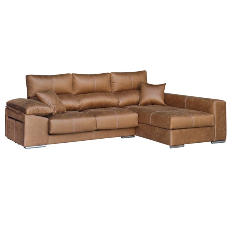 Chaiselongue modelo Lingo con asientos deslizantes y cabezal reclinable es desenfundable.