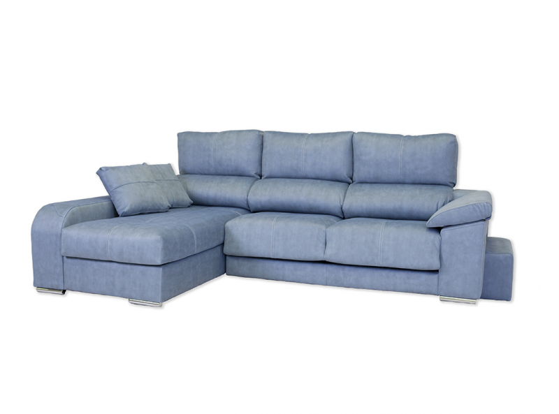 Chaiselongue modelo Star 3 plazas extensible con brazo puff con asientos deslizantes.