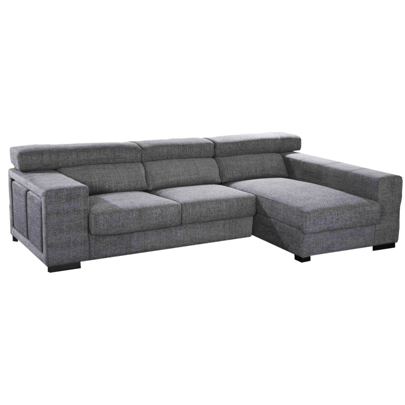 Sofa modelo Algarve con Chaiselongue en color gris