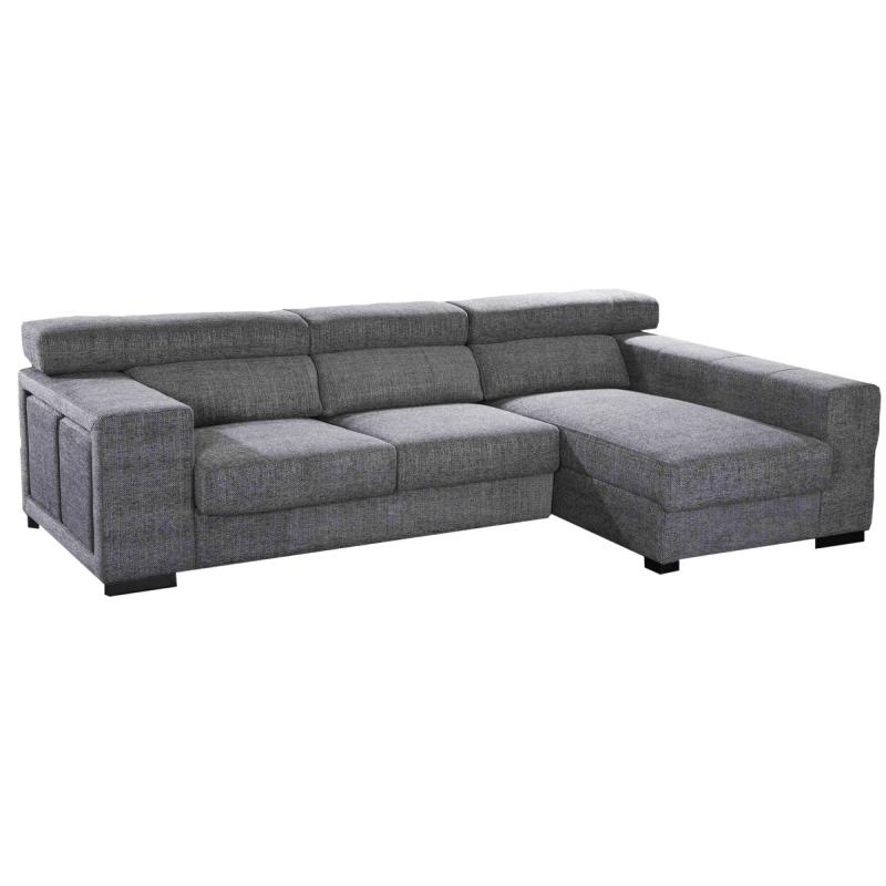 Sofa modelo Algarve con Chaiselongue en color gris
