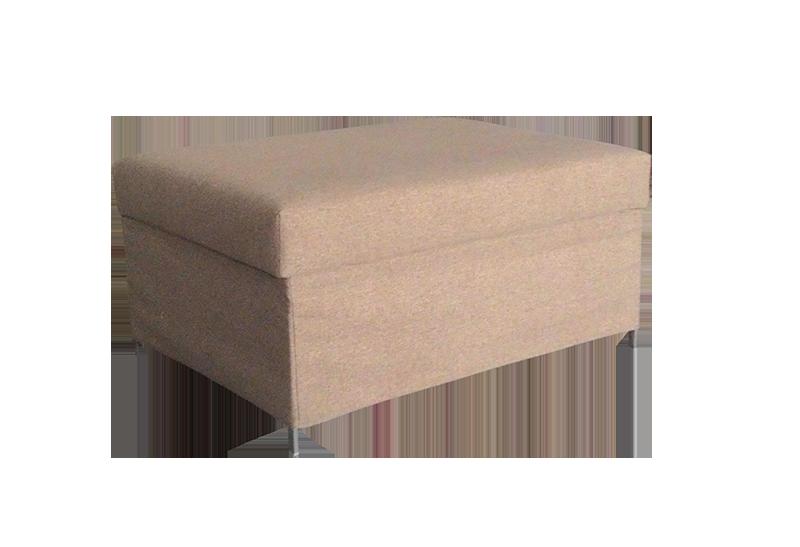 Pouf convertible en cama de color beige