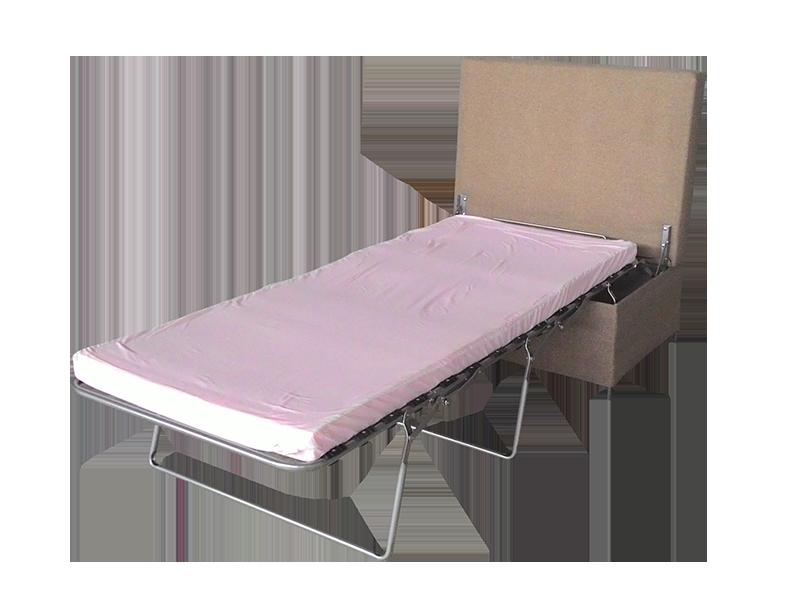 Pouf cama convertible color beige