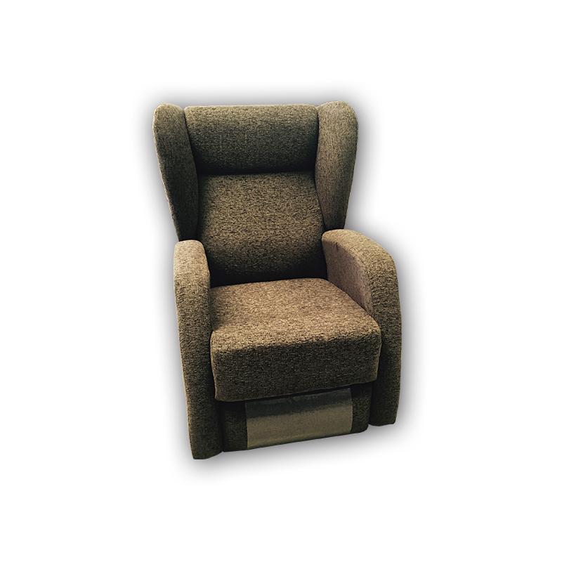 Sillón modelo Saba reclinable color marrón