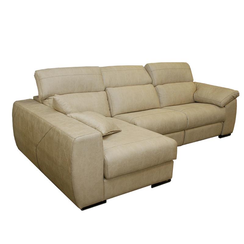 Sofá de 3 plazas, modelo Galerna, con chaiselong