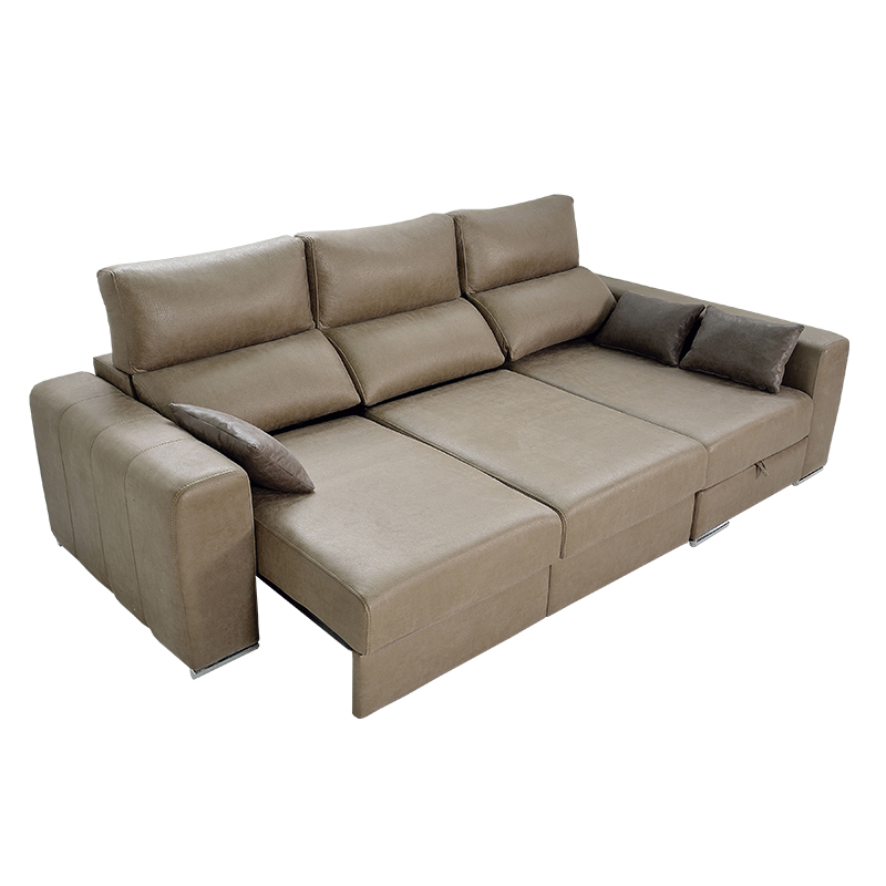 Sofa 3 plazas modelo Megan, asientos extensibles