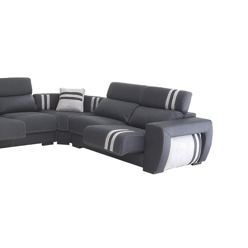 Sofá rinconera modelo Cadillac, con cabezal reclinable y fundas desenfundables para facilitar su labado.