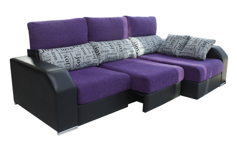 Sofá bicolor, modelo Essence 2016, 3 plazas, con asientos extraibles