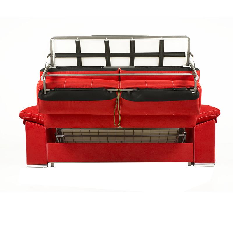 Sofá cama modelo Afrodita asientos y respaldos son desenfundables de 2 plazas muy confortables.