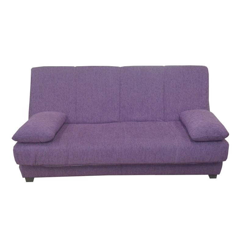 Sofá-cama modelo Braile con Baúl interior color lila