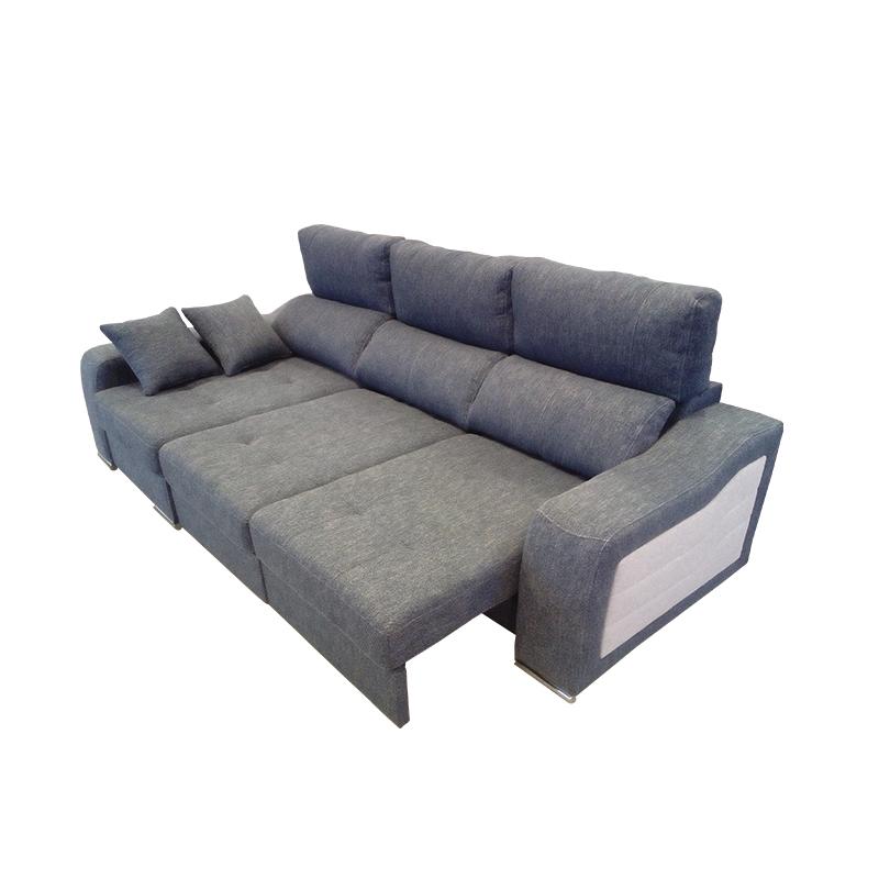 Sofá modelo Sweet chaise longue se convierte en sofá cama para un mayor confort y comodidad de 3 plazas.