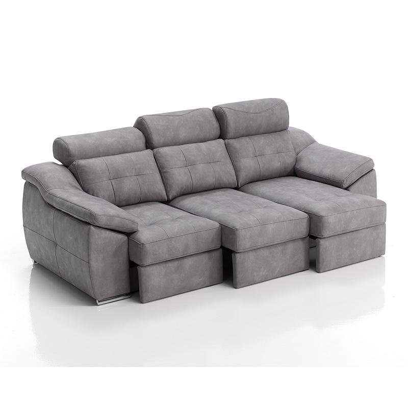 Sofá con asientos extraíbles 3 plazas modelo Nitro y fundas extraíbles para facilitar su lavado.