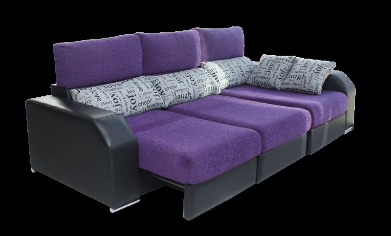 Sofá Essence 2016 bicolor, 3 plazas, con asientos extraíbles OK SYSTEM
