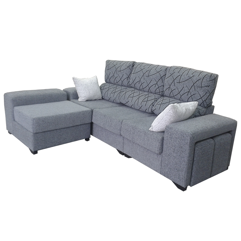 Sofá modelo Plom de color gris de 3 plazas.