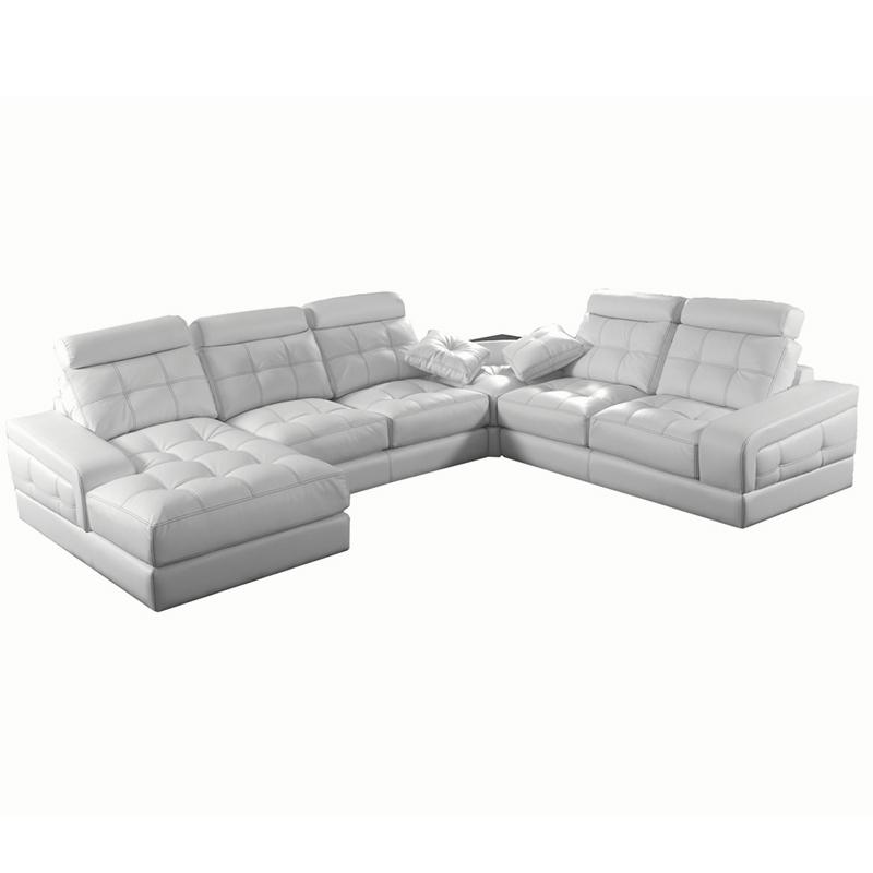 Sofa 5 plazas modelo Barcelona color blanco fundas extraibles para facilitar el lavado.