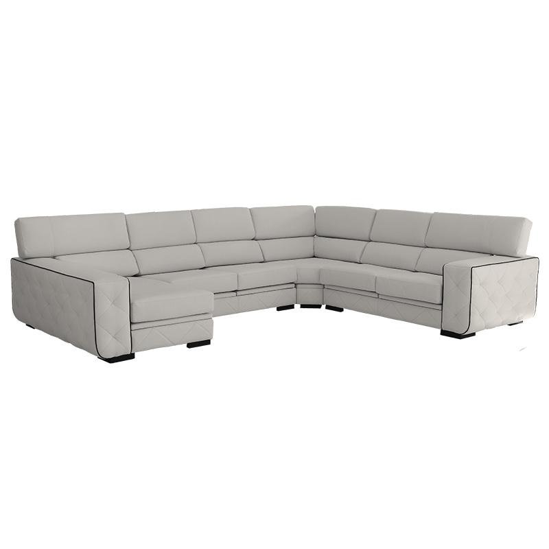 Sofá rinconera  modelo Eden 7 plazas y  respaldos reclinables.