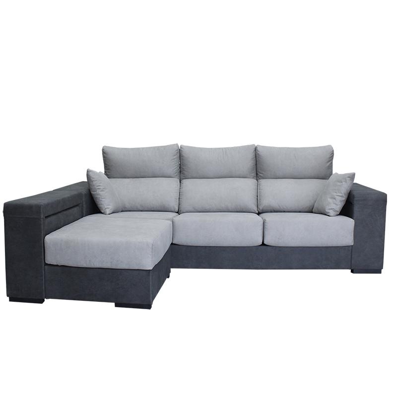 Sofá barato modelo Cibeles XL con fundas extraíbles y arcón.