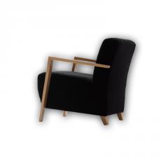Butaca modelo Solar color negro patas de madera de Haya
