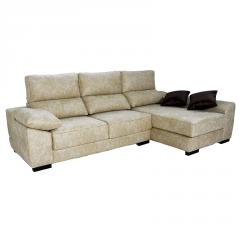 Chaiselongue con arcón y asientos deslizantes y cabeceros reclinables modelo Zero 3 plazas.