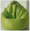 Pouf en forma de pera de color verde