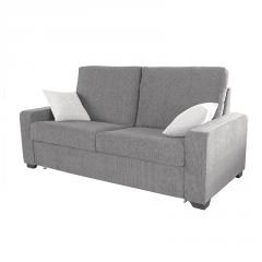 Sofá cama gris modelo Eva 2 plazas.