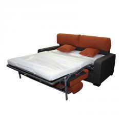 Sofá cama Lola de 2 plazas bicolor cama montada.