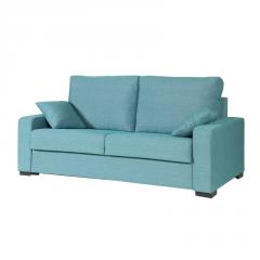Sofá Cama modelo Eva color azul,  colchón de 140x190