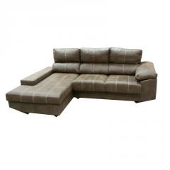 Cómodo sofá chaiselongue de diseño con opción de añadir asientos deslizantes.