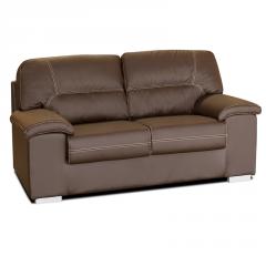 Sofá con asientos deslizantes modelo Almería color marrón oscuro.