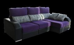 Sofá Essence 2016, con asientos extraibles, 3 plazas, bicolor.