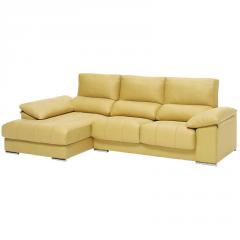 Sofá con chaise longue con arcón