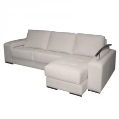 Sofá modelo Saona, 3 plazas, color blanco. con asientos deslizantes y fundas extraíbles.