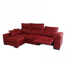 Sofá con sistema relax manual o eléctrico y con cabezales reclinables.