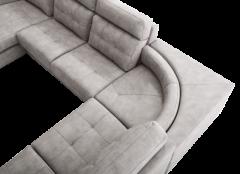 Sofá rinconera de 5 plazas con estructura de madera modelo navona