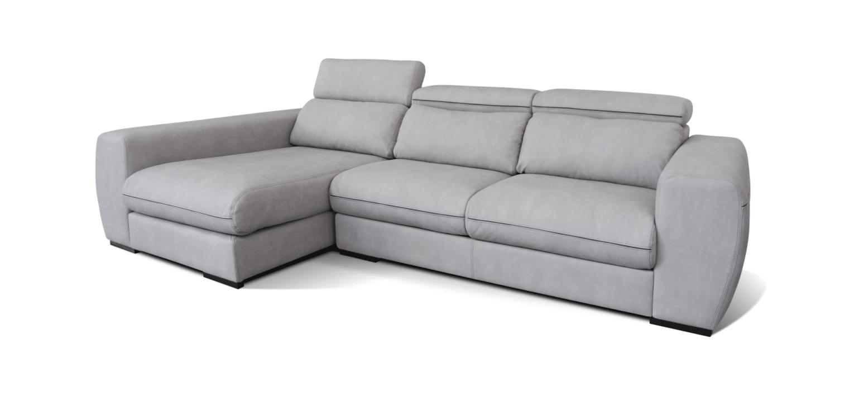 Sofá com chaise longue Maxi cinzento