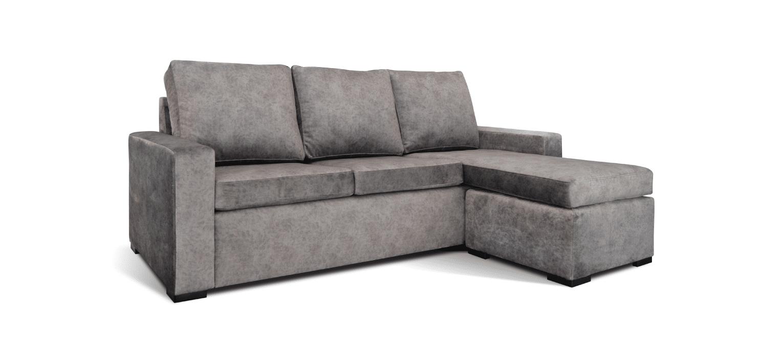 Sofá com chaise longue reversível Cubic