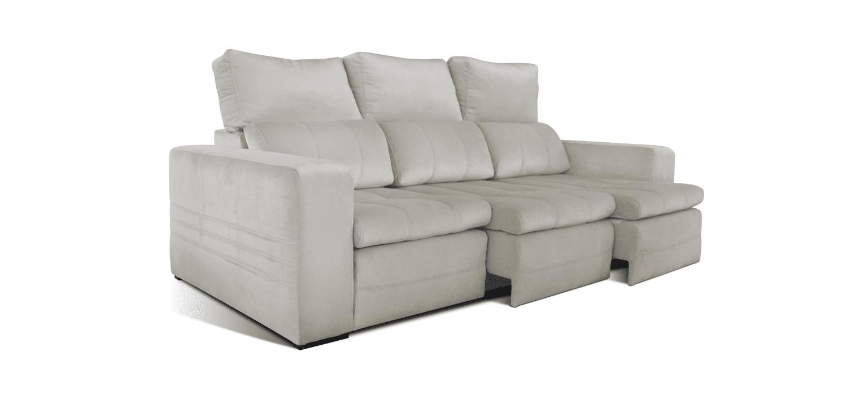 Sofá com chaise longue/cama Estel