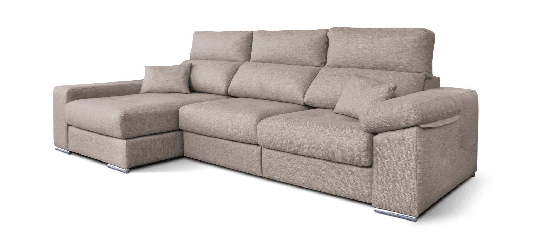 Sofá com chaise longue e cama adaptativa Rocco